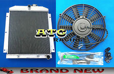 3 CORE Aluminum Radiator & Fan for 1947-1954 Chevy Truck Pickup 48 49 50 51