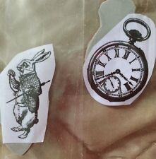 White Rabbit And Watch Alice In Wonderland Unmounted Stamps On Cling Foam. NEW.