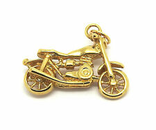Solid 9ct Yellow Gold Motorbike Pendant                                    30870