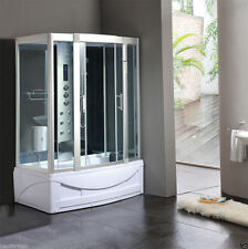 9001 Pure White Kokss Steam Room Shower Enclosure with Hydro Massage Jets NEW