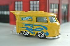 Hot Wheels VW Short Bus Kool Kombi - Yellow w/ Flames - Loose - 1:64