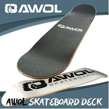 "AWOL SKATEBOARD DECK 8"" (FREE GRIP TAPE) 7 PLY - SKATE BOARD, CANADIAN MAPLEWOOD"