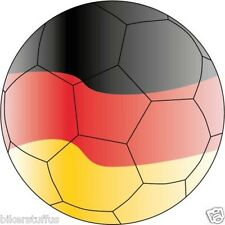 GERMANY SOCCER BALL FOOTBALL FLAG SPORT BUMPER STICKER