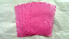 5 pcs Handmade Mulberry Paper/Unryo Hot Pink/ 9x12cm pieces/Deckled edges