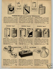 1958 PAPER AD Lighter Cigarette Ronson Whirlwinds Pipe Kaywoodie Capri Evans Set
