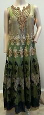 NwT Salwar Kameez Green Black Embroidered Beaded Gold Metallic Dress $15295