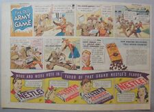 Nestle's Chocolate Bars Ad: the Old Army Game ! 1930's-1940's 11 x 15 inches