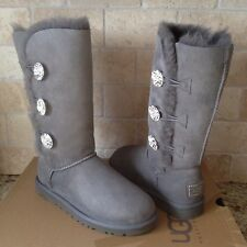 UGG Bailey Swarovski Button Bling Triplet Bling Chrc Sheepskin Boots US 5 Womens