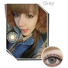 2pcs Contact Lenses Fresh Color Soft Big Eye Protection Cosmetic Lentile Gray ED