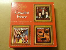 3-DISC CD BOX / CROWDED HOUSE: CROWDED HOUSE, TEMPLE OF LOW MEN, WOODFACE