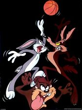 LOONEY TUNES - Bugs Bunny - Coyote - Basketball - Poster - 2000