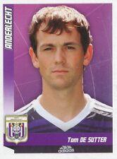 N°025 TOM DE SUTTER # BELGIQUE RCS.ANDERLECHT STICKER PANINI FOOTBALL 2011