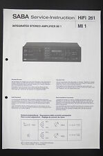 SABA Stereo Amplifier MI 1 Service-Instruction/Manual/Diagram/Schaltplan o87