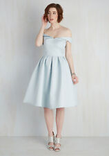 Modcloth Vogue Devotion Dress NWT Sz 22 $150 Chi Chi Blue off shoulder Retro