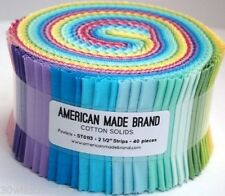 SPECIAL PRICE AMB American Made Brand Solids Jelly Roll Fabric  Pastels