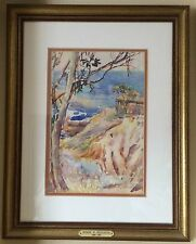 Donna Norine Schuster LAGUNA Signed Watercolor Painting-   TERRIFIC!!!!