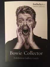 DAVID BOWIE / COLLECTOR SOTHEBYS EXHIBITION GUIDE Cover Portrait by Gavin Evans