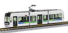 N Gauge / N Scale 3 Section Green/Blue & White Articulated Tram Light Rail BNIB