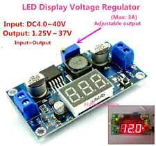 LED Display LM2596 Module DC 4V-40V to1.5v-37V 3.3V 5V 12V 3A Voltage Regulator