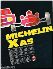 PUBLICITE ADVERTISING 105  1967  MICHELIN  les pneus X AS