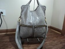 Fossil Silver Sparkle Large Hand Carry/ Cross Body Satchel, *SEE NOTES* Rare Bag