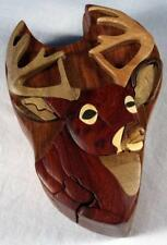 Wooden Puzzle Box- Buck's Head-FREE SHIPPING