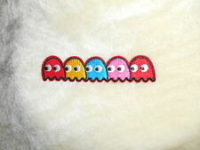 pacman ghost embroided iron on patch 11x2.3cm