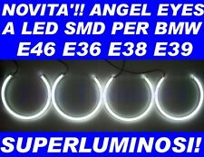 KIT ANGEL EYES LED SMD per BMW E36 E38 E39 E46 NO CCFL LUMINOSISSIMI 131mm!
