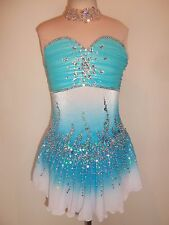 CUSTOM MADE FIGURE ICE SKATING BATON TWIRLING DRESS