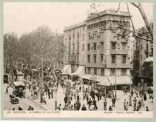 Hauser y Menet. Espagne, Barcelona, la rambla de las flores  Vintage print Pho