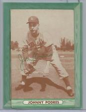 1958 Bell Brand Potato Chips Dodgers Johnny Podres Card Poor Cond (CSC) READ