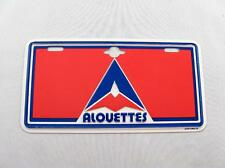 VINTAGE ALOUETTES MONTREAL FOOTBALL CLUB CFL SMALL LICENSE PLATE