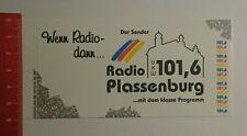 Aufkleber/Sticker: Radio Plassenburg der Sender mit dem Klasse (270816117)