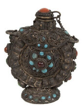Tibet 19. Jh. Tabatiere -A Sino Tibetan filigree 'Silver' Snuff bottle - Chinois
