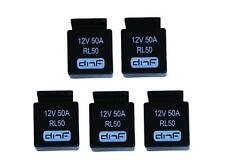 5 PACK 50 AMP 12V BOSCH STYLE RELAY CAR ALARM AUTOMOTIVE + SHIPS FREE TODAY!
