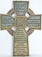 Irish Bedtime Blessing Celtic Cross Abbey Press Stone-Look Resin