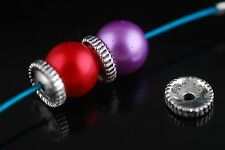100Pcs Charms Tibetan Silver Bracelet Crafts Finding Jewelery Spacer Beads 9mm
