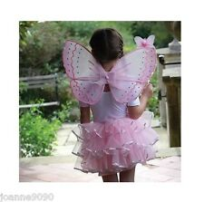 FILLE PAPILLON ROSE CANDY FLOSS FÉE TUTU AILE ANGE WAND COSTUME DÉGUISEMENT