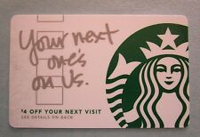 Starbucks Card - Your Next One Is On Us, MINT, HTF with Sleeve