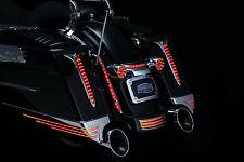 Chrome Spear Saddlebag Red LED Tail Light For Harley Touring Road Electra Glides