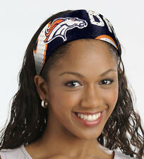 DENVER BRONCOS JERSEY  FAN BAND HEAD BAND  NEW IN PACKAGE LICENSED