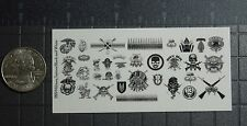 1/18 Scale Custom Tattoos: Military Black and White - Waterslide Decals