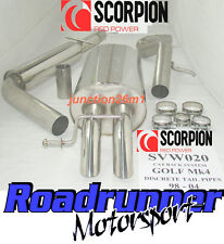 Scorpion Golf MK4 1.6 Exhaust System Stainless Cat Back Res Discrete Tail SVW020