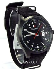 Calibre Man Troop  Changeable Black/Green Canvas Strap Watch, SC-4T1-13-007SC