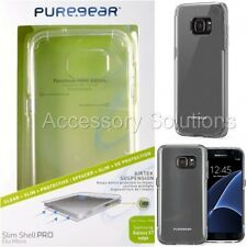 PureGear Samsung Galaxy S7 EDGE Slim Shell Pro Case Cover Clear W/ Clear Trim