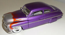 ERTL 1949 Mercury Coupe LED SLED Purple w/Flames Hot Rod 1/18 Scale 23180 Ford