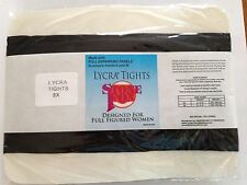 Plus Size Nylon/Lycra Tights-Black-Size 5X NEW Made In The USA
