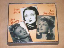 BOITIER 3 CD / RINA KETTY, LINA MARGY, LEO MARJANE  / TRES BON ETAT