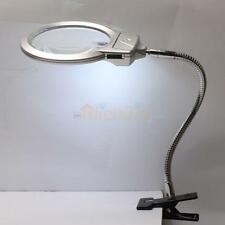 New 2.25X 5X Magnifier Desktop Magnifying Glass 2 LED Lights Jewelry Loupe