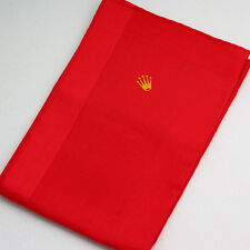 Collectible ROLEX Red Handkerchief / Pocket Square by Christian Fischbacher